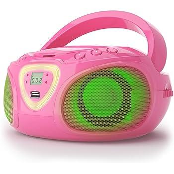 Radiocassette, Ghettoblaster Auna Roadie (Lecteur CD, Port USB, MP3, Radio,  Bluetooth 2.1, LED) 88847459c6e2