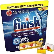 Finish Quantum Dishwasher Tablets Lemon 30's