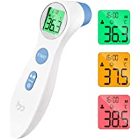 Thermomètre Frontal Médical pour Mesurer la Fièvre, Thermomètre Frontal Numérique à la Lecture Directe et Précise avec…