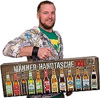 Männerhandtasche XXL von Kalea (die Geschenkidee zum Vatertag mit 12 x 0,33l. Bier Spezialitäten von Privatbrauereien...