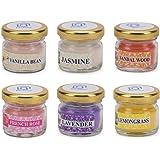 DecDoor Wax Jar Candles, Pack of 6, Vanilla Bean;Jasmine;Sandalwood;French Rose;Lavender;Lemon Grass