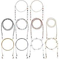 10 Pièces Chaînes de Lunettes Support de Sangle de Lunettes Perle Sangle de Collier de Lunettes Chaîne de Lunettes pour…