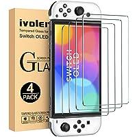 iVoler 4 Stück Panzerglas Schutzfolie Kompatibel für Nintendo Switch OLED Modell 7 Zoll 2021 Modell, Panzerglasfolie, 9H…