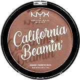 NYX Professional Makeup Polvos bronceadores California Beamin' Face and Body Bronzer, Polvos compactos, Tamaño grande, Fórmul