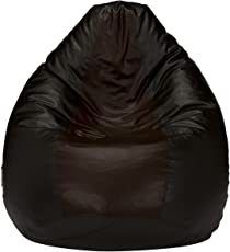 Amazon Brand - Solimo XXXL Bean Bag Cover Without Beans (Black and Brown)