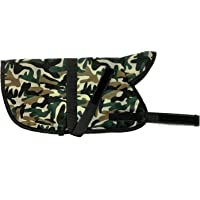 ALCAZAR Dog Winter Coat Ultra Warm Camouflage Thicker Fleece Army Design Dog Hoodie Vest for Cold Weather (25 Inch, 3XL