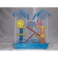 Lovely PET'S Kingdom- Cage/Playhouse for Dwarf Hamster/Gerbil/Mice with a Food Dish, Water Bottle and Exercise Wheel…