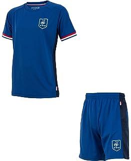Equipe de FRANCE de football Short Molleton FFF Collection Officielle Taille Enfant gar/çon