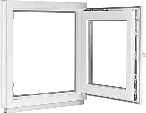 100x170 cm Classic Line 2-fach-Verglasung Terrassent/ür Balkont/ür 60 mm DIN Rechts anthrazit