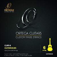 ORTEGA Cordes Guitarlélé - Diapason 420-440 mm 6 pièces (GLNY-6)