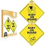 Plaque B/éb/é /à bord bleu Cutie Baby on board pour voiture de s/écurit/é
