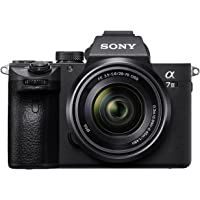 Sony Alpha ILCE-7M3K Full-Frame 24.2MP Mirrorless Camera with 28-70mm Zoom Lens (4K Full Frame, Real-Time Eye Auto Focus, Tiltable LCD, Low Light Camera) - Black
