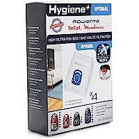 Rowenta Lot de 4 sacs Hygiène+, Compatibles avec les aspirateurs traineau Compact Power, Power XXL, Silence Force, X…