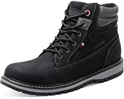JIASUQI Mens Waterproof All Weather Outdoor Durable Casual Workout Hiking Boots Anti-skid Boots