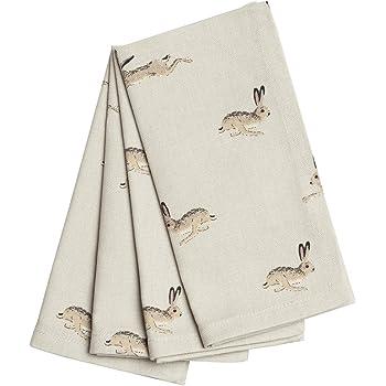Sophie Allport Napkins (Set of 4) - Hare design