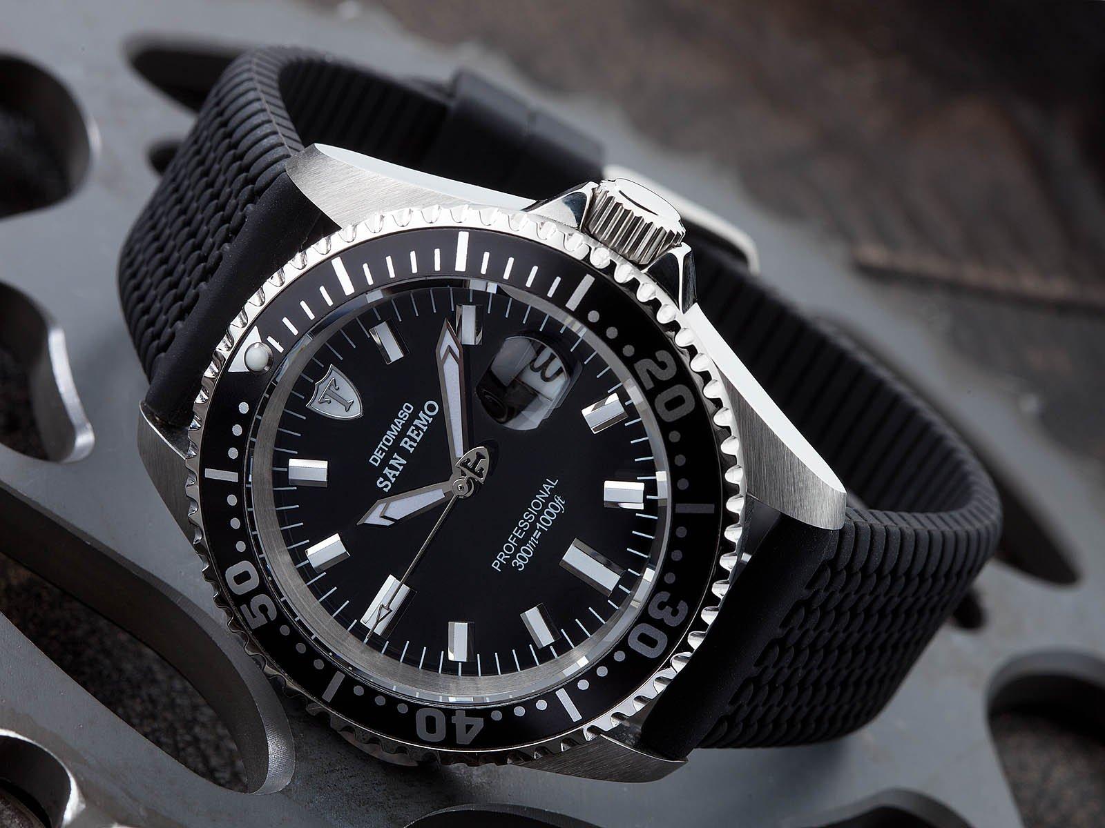 Detomaso DT1025-I – Reloj para hombres, correa de silicona color negro