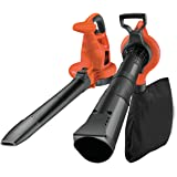 BLACK+DECKER GW3030-QS Aspirateur, Souffleur, Broyeur de feuilles filaire - Volume d'aspiration : 14 m3/min - Capacité : 50 L