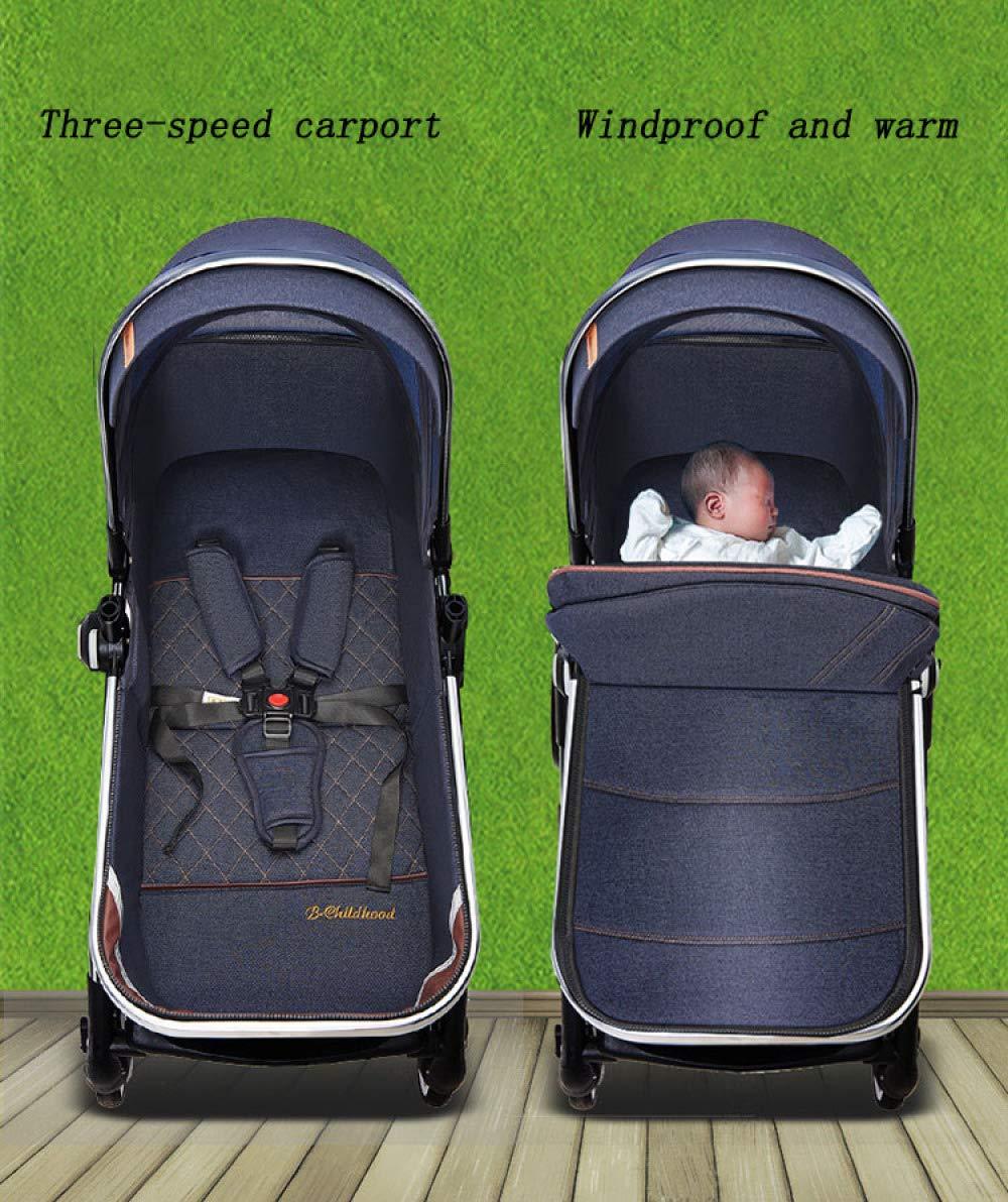 XYUJIE Baby Carriage,Ultra Light And High Landscape Can Sit Reclining Four Wheel Shock Simple Folding Trolley XYUJIE  8