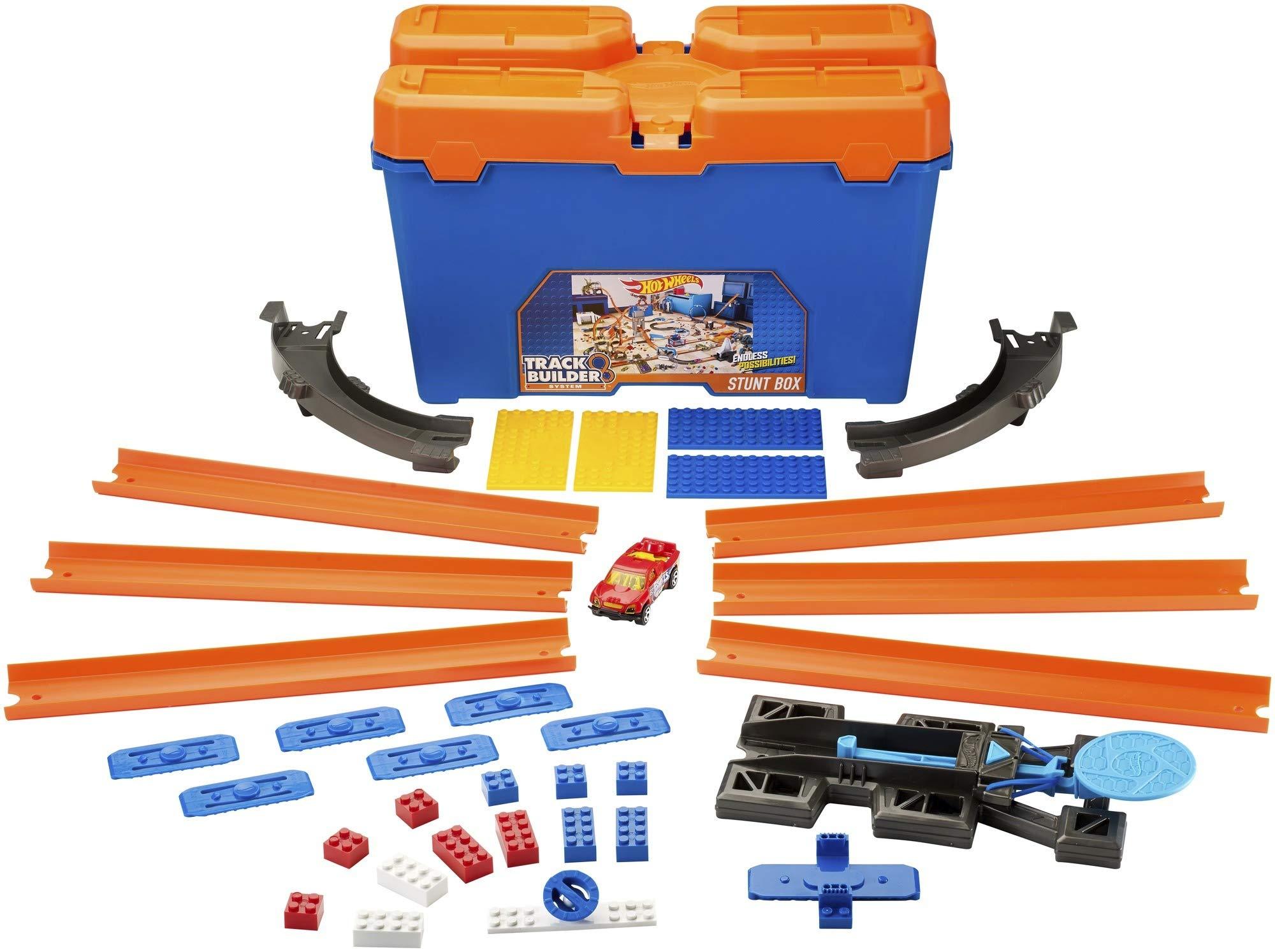 Hot Wheels- Track Builder Set delle Acrobazie Playset per Creare Combinazioni Infinite e Ampliare Le Piste, Include Una… 1 spesavip