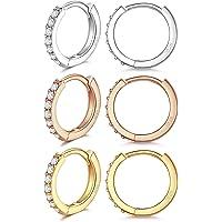 LIHELEI Orecchini a Cerchio in Argento Sterling 925 per Donna, Orecchini a Polsino Orecchini a Bottone Cartilagine…