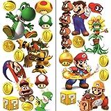 Super Mario muursticker voor slaapkamers jongens en meisjes 2 vellen super mario patroon 750 mm X 350 mm