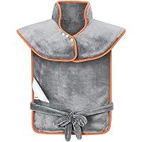 OMORC Coussin Chauffant pour Epaules et Dos Portable avec 3 Niveaux de Températures, Protection contre Surchauffe Ultra-Doux pour Relaxation et Détente du Corps