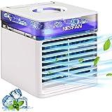 Climatiseur Portable, Micacorn Refroidisseur D'air, 4 en 1 Air Cooler Humidificateur Purificateur USB Ventilateur Cool avec L