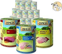 Mac´s Katze Sparpaket | 30 x 400g | Sorten frei wählbar | Nassfutter MACS | gratis Katzenspielzeug