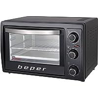 BEPER 90.884 Four Electrique Ventilé et Accessoires, Noir, 1300 W