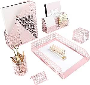 3 pezzi 5 Piece rosa chiaro Blu Monaco Set da scrivania