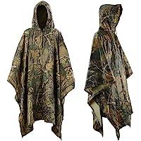 Infreecs Waterproof Rain Cape Raincoat, Rain Poncho for outdoor Camping Military cycling traveling, Hooded Rainwear with…