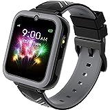 Smartwatch för barn, Barnsmartklocka för flickor och pojkar med spel, MP3-musik, HD-pekskärm, kamera, väckarklocka, samtal, S