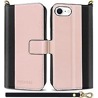Pinzoveno Custodia per iPhone SE 2020 iPhone 7/8, Custodia Flip con Supporto per Scheda Cinturino da Polso e Protezione…