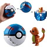 Esportic Poké Ball, Pokeball, Poké Ball, Jeux Boule , Boule avec Jeu de Balle Action Figure Figure Toy pour Enfants