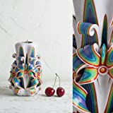 Stravagante ed Esclusiva - Candela Intagliata A Mano - in Stile Arcobaleno Ornamentale - Centrino Ornamentale da Nozze - EveC