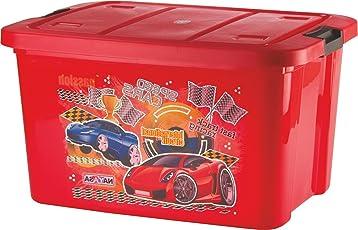 Uberlyfe Multi Purpose Kids Toy Storage Box - Plastic (50 Ltr. Red) (Ny-001227-Tybx50L-Rd_A)