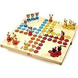 """small foot 7358 Ludo """"Tiere"""" aus Holz, Gesellschaftsspiel für Groß und Klein, mit Tierchen-Spielfiguren, ab 4 Jahren"""