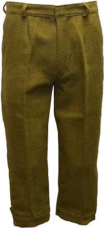 Walker & Hawkes - Mens Derby Tweed Shooting Plus Fours Long Breeks Trousers - Dark Sage - 32-42