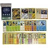 Pok Pokémon 50 Pokémonkaarten + 1 V / GX/EX / VMAX Pokemon-kaart + 2 briljante cadeaukaarten + 1 zeldzame kaarten + 100 Heart