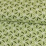 Gobelin Stoff Toscana Stern limegrün Canvasstoff - Preis gilt für 0,5 Meter -