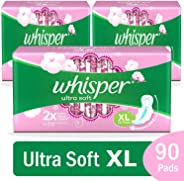 Whisper Ultra Soft XL Plus, 30 Pads (Pack of 3)