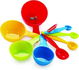 L'MS Plastic Measuring Spoon Set, Set of 8, Multicolour