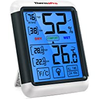 ThermoPro TP55 Termometro Igrometro Digitale da Interno per Casa Misuratore di Umidità e Temperatura da Ambiente…