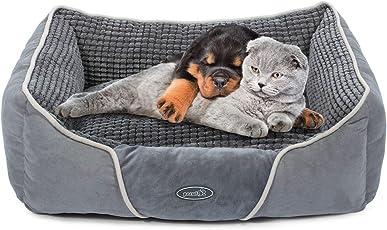 Pecute Hundebett Haustierbett für Katzen und Hunde Rechteck Ultra Weicher Plüsch luxuriöse Haustier-Schlafsack Maschine waschbar