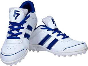 Fashion7 White and Blue Shoes for Mens - Cricket Shoes
