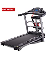 MAXPRO PTM405M 2HP(4 HP Peak) Multifunction Folding Treadmill, Electric Motorized Power Fitness Running Machine with LCD Display for Intense Workout Session