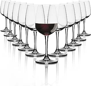 PASABAHCE verres à vin Rouge370 mlEnsemble de 12 verres de haute qualitélave vaisselle