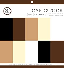 """ColorBok 61198B Neutral Cardstock Paper Pad Smooth Cardstock Paper Pad, 12"""" X 12"""""""