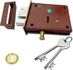 Ramson Dyna Classic Brass 6 Levers 100 Mm Double Chal Door Inter Lock With A Towerbolt ( 2 In One) Operated From Both Side Of The Door.