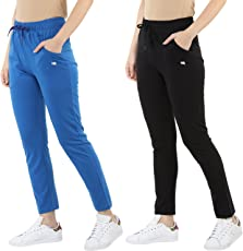 Modeve Women's Solid Track Pant (Pack of 2)